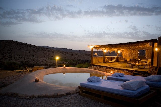 African hut in Desert Olive Farm