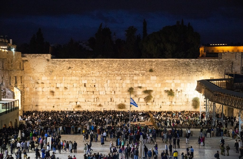 The Western Wall on Yom Kippur